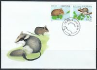 Lithuania 2017 FDC cover WWF Northern birch mouse & Garden dormouse