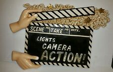 Lights Camera Action Resin Sign Homegoods Wall Decor Clapperboard Movies