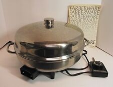 "TESTED Vtg Farberware 344A Electric 12"" Skillet Fry Pan Stainless Buffet Server"