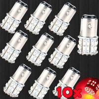 10x BAY15D 1157 Red Car Tail Stop Brake Light Super Bright 50 SMD LED Bulb 12V
