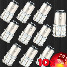 10x BAY15D 1157 Red Car Tail Stop Brake Light Super Bright 50 SMD LED Bulb 12V