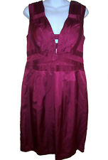 Nanette Lepore Sultry Nights Sheath Dress sz 12 fuchsia pink cocktail NEW $348