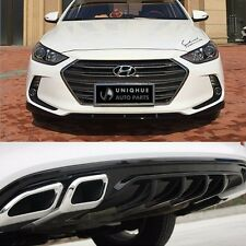 Front Bumper Skirt Lip Rear Diffuser Body Kit Painted For Hyundai Elantra 2017+