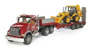 Bruder 02813 Camion Mack Granite Trasporta Draga JCB 4CX 3a+