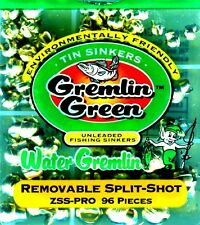 Water Gremlin Green Unleaded, Removable Tin Split-Shot (96 pieces) ZSS-PRO