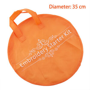 1Pcs 35cm Orange Embroidery Storage Hoop Bag Eco-friendly Non-woven Sewing B_cd