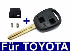 2T Ersatz Schlüssel Gehäuse Gummi für TOYOTA Corolla Avensis Aygo RAV +2x Taster