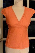 Petit haut LA REDOUTE orange en coton manches courtes, taille 36