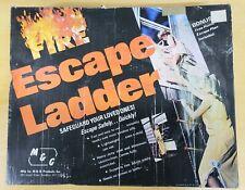 Fire Safe Escape Metal Step Hanging Steel Chain Link Tree House Ladder 15 ft