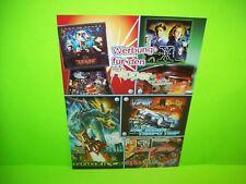 Bally Wulff German Unique Original Pinball Machine Flyer Sega X-Files Godzilla +