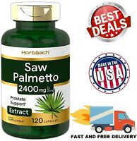 SAW PALMETTO 2400 mg Support healthy Prostate Function Supplement 120 Capsules