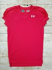 UNDER ARMOUR FOOTBALL JERSEY MENS QB PRACTICE RED Sz Small