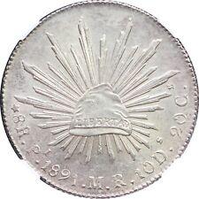 Mexico 8 Reales Pi 1891 M.R. Potosi Mint, NGC MS64. KM# 377.12