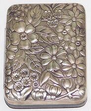 MINT Antique Gorham Sterling Silver Repousse Key Case Model 47 Flower Floral