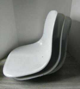 Vintage Set of 3 MCM Mid Century Eames Era Curtis Shell Fiberglass Chair Seats