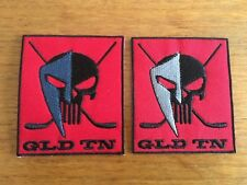 Lot de 2 Patchs Hockey GLD TN 6X7 cm