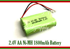 2.4V Ni-MH 1800mAh AA 2-Cell Battery Pack Universal for Cordless Home Telephone