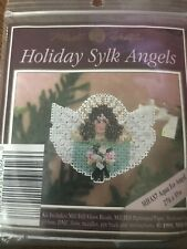 Mill Hill Beaded Cross Stitch Kit Holiday Sylk Angels Aqua Ice Angel MHAS7