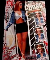 King Cobra Malt Liquor Babe Let It Out Anheuser Busch Poster BEER LAST ONE OOP