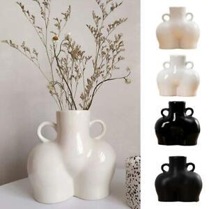 Vase Ceramics Human Body Bum Nude Abstract Flower Vase Home Decoration New