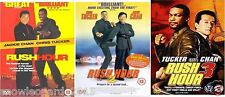 Rush Hour Trilogie komplett Movie Film 1-3 Sammlung DVD Teil 1 2 3 UK NEU r2