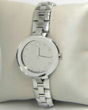 MOVADO SAPPHIRE SILVER MIRROR DIAMOND DIAL LADIES WATCH  0607193