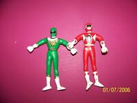 Mighty Morphin Power Rangers : 1993 Gordy : Bendy Green and Red Figure lot