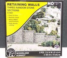 Random stone retaining wall Model Railroad Train Scenery Woodland Scenics C1261