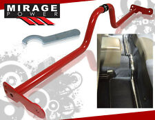 Adjustable Racing Strut Tower Floor Bar Frame Brace Red Civic Prelude Del Sol