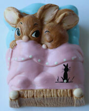Vintage Figurine Pendelfin Rabbit Twins