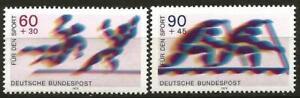 Germany 1979 MNH Sport Promotion Fund Handball Canoeing Mi 1009/10 SG 1890/