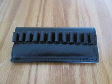 Triple K Leather 12 Loop Cartridge Belt Pistol Ammo Slide Black 357 / 38 Caliber
