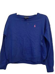 Girls Ralph Lauren Royal Blue sweater Size 8-10