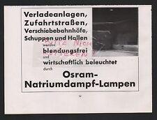 BERLIN, Werbung 1935, Osram GmbH KG Natriumdampf-Lampen
