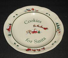 """Pfaltzgraff Snow Village 9"""" Cookies for Santa Plate"""