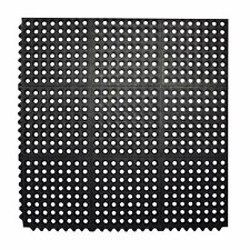 Interlocking Puzzle Rubber Floor Mat 3u0027x3u0027 Commercial Anti Fatigue Gym ...