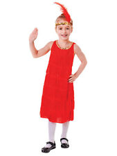 RED anni 1920 20 Costume & Fascia 20V CHARLESTON Ragazze Fancy Dress Outfit