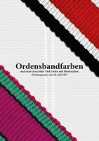 Ordensbandfarben nach dem Gesetz über Titel, Orden und Ehrenzeichen