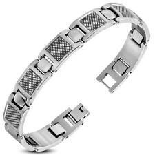 Herren Armband Edelstahl Stahl Arm Kette Mesh silber Steel Geschenk für Männer