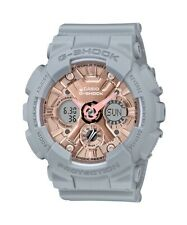 BRAND NEW CASIO G-SHOCK S-SERIES GMAS120MF-8A GREY/ROSE GOLD ANA-DIGI WATCH!!!!!