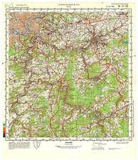 Russian Soviet Military Topographic Maps - LIEGE (Belgium), 1:100 000, ed. 1988