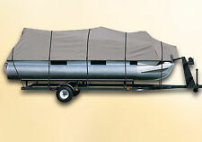 "Pontoon Boat Cover Bennington 20 SF with up to 102"" Beam GRAY BLUE BURGUNDY"