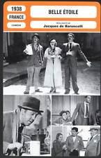 BELLE ETOILE - Simon,Aumont,Baroncelli (Fiche Cinéma) 1938