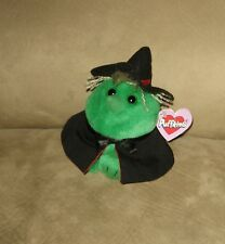 1997 Hazel the Green Witch Puffkins Swibco Plush w/ Tag