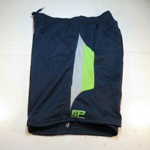 NEW NWT MUSCLE PHARM MP ATHLETIC GYM BODY BUILDING SHORTS Mens XXL Blue