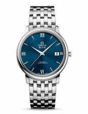 Omega De Ville prestigio Esfera Azul 36.8mm Para hombres Reloj Automático 424.10.37.20.03.001
