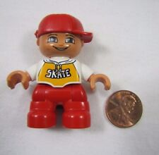 "LEGO DUPLO RED HAT SKATE BOY TODDLER 2"" FIGURE for FAMILY HOME HOUSE #2"