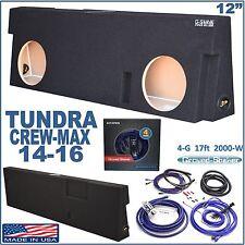 "TOYOTA TUNDRA CREWMAX 12"" DUAL SPEAKER SUBWOOFER SUB BOX ENCLOSURE GROUND-SHAKER"