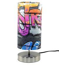 Graffiti Lamp Light Bedside Table Desk Lamps Boys Bedroom Brick Wall Skate Park