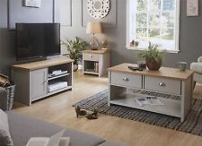 LANCASTER LIVING ROOM SET COFFEE TABLE LAMP TABLE SMALL TV STAND CABINET GREY